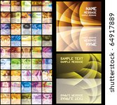 45 Abstract Business Cards. Se...