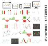binary options icons. vector... | Shutterstock .eps vector #649185565