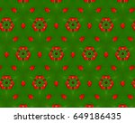 green  red and white. seamless... | Shutterstock . vector #649186435