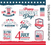independence day of the united... | Shutterstock .eps vector #649187431