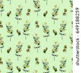 seamless floral pattern with...   Shutterstock . vector #649188259