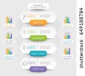 business hexagon infographics... | Shutterstock .eps vector #649188784