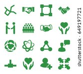 friendship icons set. set of 16 ... | Shutterstock .eps vector #649197721