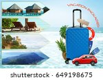 vacation packages concept.... | Shutterstock . vector #649198675