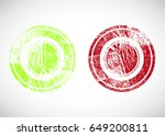 grunge post stamps collection ... | Shutterstock .eps vector #649200811