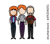 family parent with grandparents ... | Shutterstock .eps vector #649204051