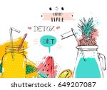 hand drawn vector abstract... | Shutterstock .eps vector #649207087