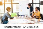 group of three multi generation ... | Shutterstock . vector #649208515