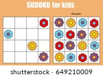 sudoku game for children with... | Shutterstock .eps vector #649210009
