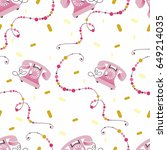 seamless pattern with... | Shutterstock .eps vector #649214035
