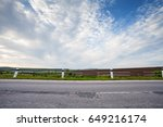 country asphalt road side view... | Shutterstock . vector #649216174