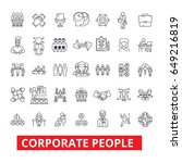corporate people  corporate... | Shutterstock .eps vector #649216819