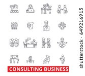 consulting business  business... | Shutterstock .eps vector #649216915