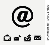 set of 5 spam filled icons such ... | Shutterstock .eps vector #649217809