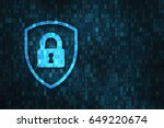 cyber security and data privacy ... | Shutterstock . vector #649220674
