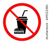 no food and drink icon.... | Shutterstock .eps vector #649222381