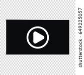video player for web  vector... | Shutterstock .eps vector #649225057