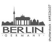 berlin skyline silhouette... | Shutterstock .eps vector #649226107