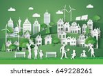 illustration of eco and world... | Shutterstock .eps vector #649228261