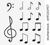 music notes icon set and... | Shutterstock .eps vector #649231957