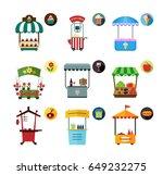 set of stylized illustrations... | Shutterstock .eps vector #649232275