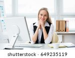 portrait of a young business... | Shutterstock . vector #649235119