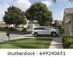 luxury car parked on the... | Shutterstock . vector #649240651