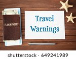 concept of tourism. paper with... | Shutterstock . vector #649241989