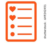 love list page flat icon.... | Shutterstock .eps vector #649242451