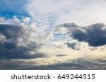 heavy sky  bad weather. a...   Shutterstock . vector #649244515