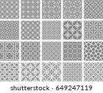 big set of seamless geometric... | Shutterstock .eps vector #649247119