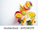 white  pink and red sangria... | Shutterstock . vector #649248199