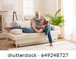 happy mature couple spending... | Shutterstock . vector #649248727