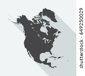 north america map with long... | Shutterstock .eps vector #649250029