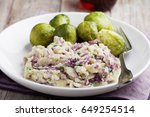 traditional dutch dish stamppot ... | Shutterstock . vector #649254514