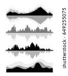vector music sound waves set.... | Shutterstock .eps vector #649255075
