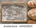 bread bakery copy space... | Shutterstock . vector #649265824