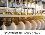 sunflower oil. line for the... | Shutterstock . vector #649277677
