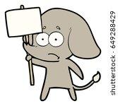 cartoon unsure elephant with...   Shutterstock .eps vector #649288429