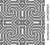black and white geometric... | Shutterstock .eps vector #649288465