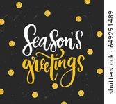 trendy hand lettering poster.... | Shutterstock .eps vector #649291489