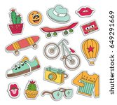 elements of patch badges in... | Shutterstock .eps vector #649291669