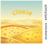 pieces of cheese lined with... | Shutterstock .eps vector #649292659