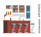 pub interior with counter ... | Shutterstock .eps vector #649294051