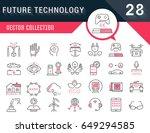 set vector line icons in flat...   Shutterstock .eps vector #649294585