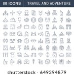 set vector line icons  sign and ... | Shutterstock .eps vector #649294879