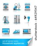 set icon of household... | Shutterstock .eps vector #64929547