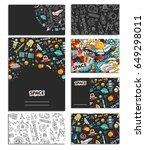 cards vector template... | Shutterstock .eps vector #649298011