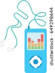 generic mp3 player in vector | Shutterstock .eps vector #649298644