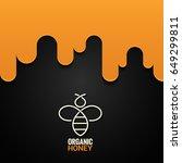 honey bee logo design background | Shutterstock .eps vector #649299811